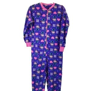 Disney Eeyore Hearts & Snowflakes Footie Pajamas S